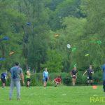 Lancé de Frisbee en prologue du Raid ANSA 2018